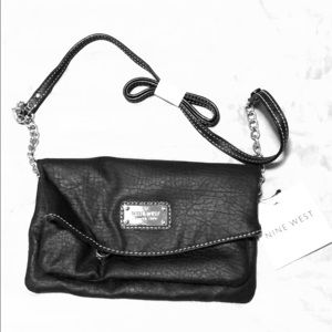 Nine West black crossbody purse